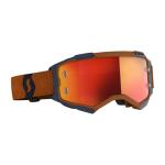 Scott Crossbril Fury - Grijs / Oranje - Spiegel Lens