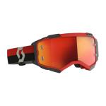 Scott Crossbril Fury - Rood / Zwart - Spiegel Lens