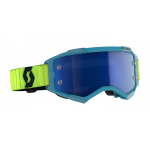 Scott Crossbril Fury - Teal Blauw / Neon Geel - Spiegel Lens