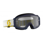 Scott Crossbril Hustle X MX - Donker Blauw / Geel - Clear Lens