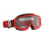 Scott Crossbril Hustle X MX - Donker Rood / Rood - Clear Lens