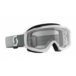 Scott Crossbril Hustle X MX - Wit / Grijs - Clear Lens