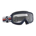 Scott Crossbril Split OTG - Blauw / Wit - Clear Lens