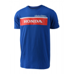 Troy Lee Designs T-shirt Honda Wing Block - Blauw