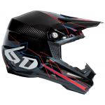 6D Crosshelm ATR-1 Carbon - Electric Rood / Zwart