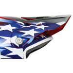 6D Kinder Helmklep ATR-1Y Patriot - Rood / Wit / Blauw