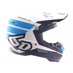 6D Crosshelm ATR-2 Stripe - Cyan / Wit