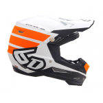 6D Crosshelm ATR-2 Stripe - Oranje / Wit