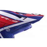 6D Kinder Helmklep ATR-2Y Strike - Rood / Wit / Blauw