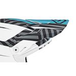6D Kinder Helmklep ATR-2Y Havoc - Electric Blauw / Wit / Zwart