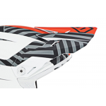 6D Kinder Helmklep ATR-2Y Havoc - Oranje / Wit / Zwart