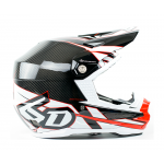 6D Crosshelm ATR-1 Carbon - Electric Rood / Wit