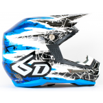 6D Crosshelm ATR-1 Chaos Graphic - Blue Gloss