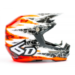6D Crosshelm ATR-1 Chaos Graphic - Red Gloss