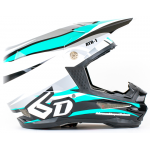 6D Crosshelm ATR-1 Flo - Teal / White