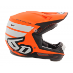 6D Kinder Crosshelm ATR-2Y Stripe - Oranje / Wit