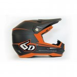 6D Crosshelm ATR-1 Stealth Graphic - Charcoal / Neon Oranje