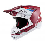 Alpinestars Crosshelm S-M8 Contact - Donker Rood / Wit