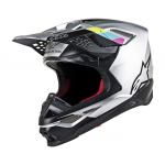 Alpinestars Crosshelm S-M8 Contact - Zilver / Zwart