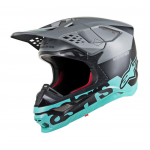 Alpinestars Crosshelm S-M8 Radium - Grijs / Teal