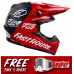 Bell Crosshelm Moto-9 Flex Fasthouse DITD 21 - Mat Navy / Glans Rood