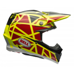 Bell Crosshelm Moto-9 Flex Strapped - Geel / Rood