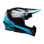 Bell Crosshelm MX-9 Mips Torch Gloss - Zwart / Cyan / Rood