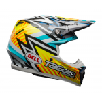 Bell Crosshelm Moto-9 Mips Asymetric Tagger Gloss - Geel / Blauw / Wit
