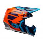 Bell Crosshelm Moto-9 Mips District Gloss - Blauw / Oranje