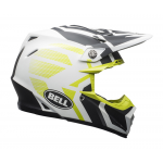 Bell Crosshelm Moto-9 Mips District - Wit / Zwart / Groen