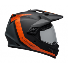 Bell Helm MX-9 Adventure Switchback - Mat Zwart / Oranje
