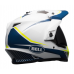 Bell Helm MX-9 Adventure Torch - Wit / Blauw / Geel