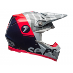 Seven Crosshelm Moto-9 Flex Zone - Navy / Coral