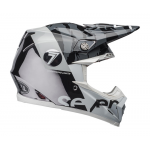 Seven Crosshelm Moto-9 Flex Zone - Zwart / Wit / Chrome