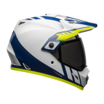 Bell Helm MX-9 Adventure Dash - Wit / Blauw / Hi-Viz