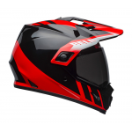 Bell Helm MX-9 Adventure Dash - Zwart / Rood / Wit