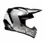 Seven Crosshelm Moto-9 Flex Roque - Zwart / Chrome