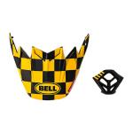Bell Kit Moto-9 Mips / Flex Fasthouse Checkers - Mat Zwart / Geel