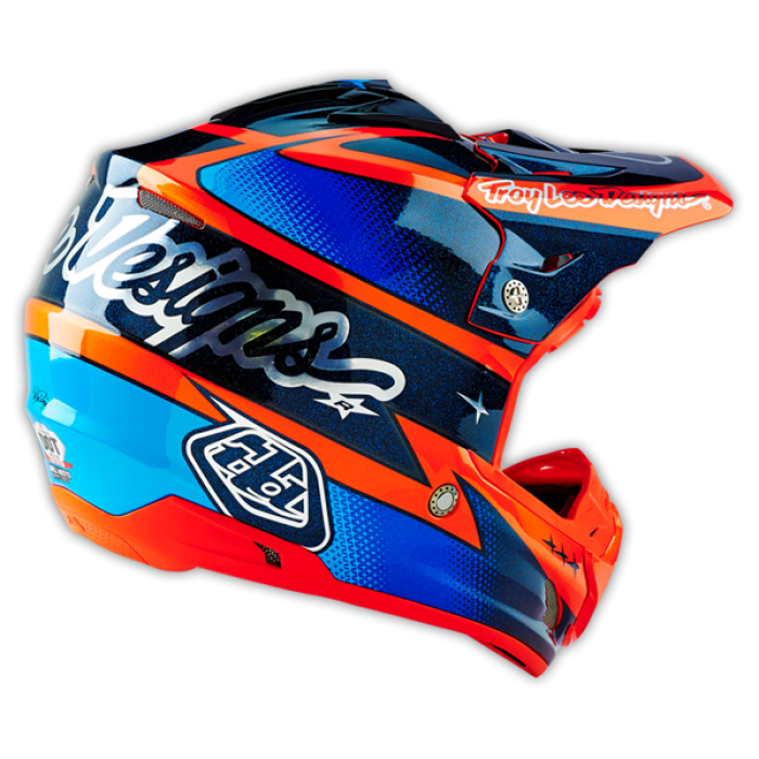 Troy lee designs motocross helmet 2016 se3 team orange for Helm design
