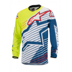 Alpinestars Cross Shirt 2017 Racer Braap - Geel Fluo / Wit / Blauw