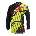 Alpinestars Cross Shirt 2017 Racer Braap - Geel Fluo / Zwart