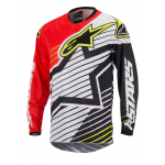 Alpinestars Cross Shirt 2017 Racer Braap - Rood / Wit / Zwart