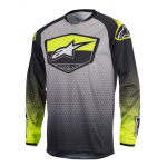 Alpinestars Cross Shirt 2017 Racer Supermatic - Geel / Grijs