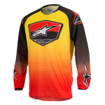 Alpinestars Cross Shirt 2017 Racer Supermatic - Rood / Zwart / Geel