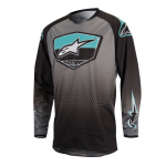 Alpinestars Cross Shirt 2017 Racer Supermatic - Zwart / Grijs / Teal