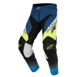 Alpinestars Crossbroek 2017 Racer Supermatic - Blauw / Cyan / Geel