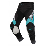 Alpinestars Crossbroek 2017 Racer Supermatic - Zwart / Grijs / Teal