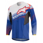 Alpinestars Cross Shirt 2017 Techstar Factory - Blauw / Wit / Rood