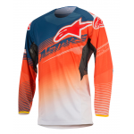 Alpinestars Cross Shirt 2017 Techstar Factory - Oranje / Blauw / Wit