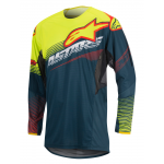 Alpinestars Cross Shirt 2017 Techstar Factory - Petrol / Geel / Rood